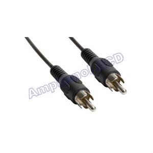 Thin-line Single RCA Coaxial Cable - RCA Male  /  RCA Male (Coaxial Digital Audio Compatible)
