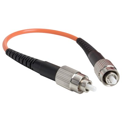 FC Connector Loopback Cable:  Multimode 50 / 125 Fiber Optic Port Testing