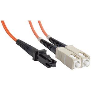 SC-MTRJ Duplex Multimode 62.5 / 125 Fiber Optic Patch Cable (OFNR Riser) - 2 x SC Male to 2 x MT-RJ Male