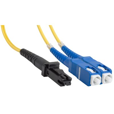 SC-MTRJ Duplex Single-Mode 11 / 225 Fiber Optic Patch Cable (OFNR Riser) - 2 x SC Male to 2 x MT-RJ Male