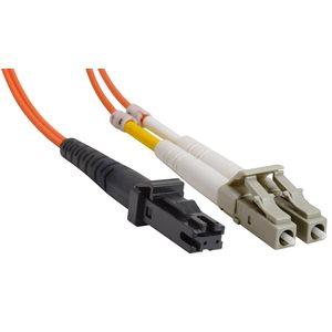 MTRJ-LC Duplex Multimode 62.5 / 125 Fiber Optic Patch Cable (OFNR Riser) - 2 x MT-RJ Male to 2 x LC Male