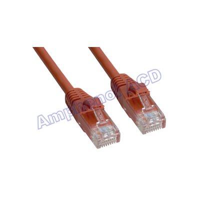 Cat5e UTP Patch Cable (350-MHz) with Snagless RJ45 Connectors - Orange