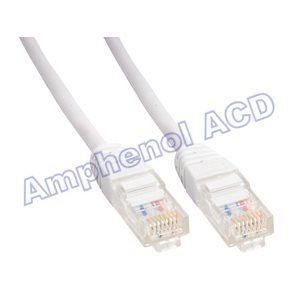Cat5e UTP Patch Cable (350-MHz) with Snagless RJ45 Connectors - White