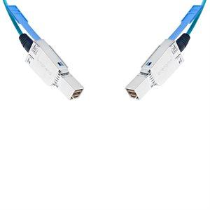1m (3.3') External 4x HD Mini-SAS (SFF-8644) Active Optical Cable (AOC) - 850nm OM3 OFNP - 4 x 12 Gbps (48 Gbps) SAS 3.0 & iPass+™ HD Compliant