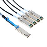 1m QSFP to 4 SFP+ Splitter Cable (30 AWG Passive Copper) - 1 x QSFP+ (40GbE) to 4 x SFP+ (10GbE) Connectors (3.3 ft)
