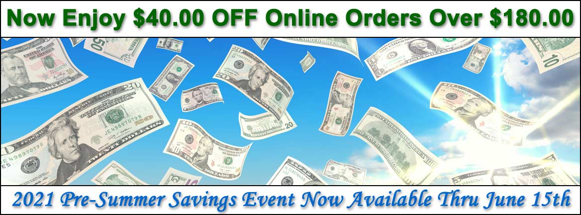 $40 OFF Online Orders Over $180 Automatically at Checkout